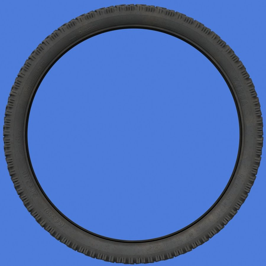 Mountain Bike Wheels + Tires royalty-free 3d model - Preview no. 8