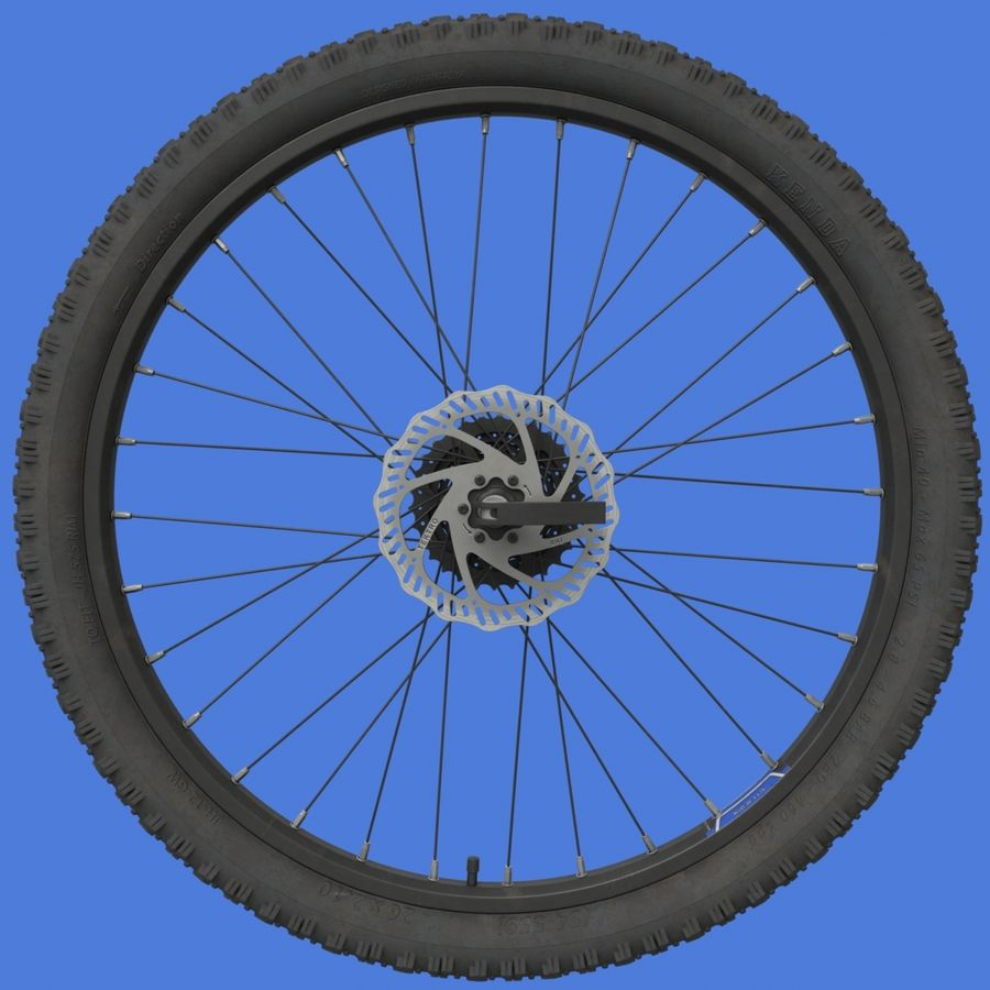 Mountain Bike Wheels with Tires royalty-free 3d model - Preview no. 4