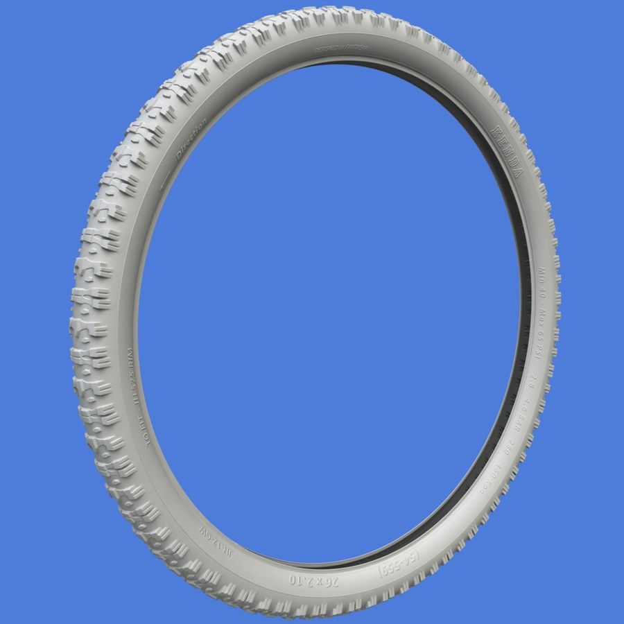 Mountain Bike Wheels + Tires royalty-free 3d model - Preview no. 15