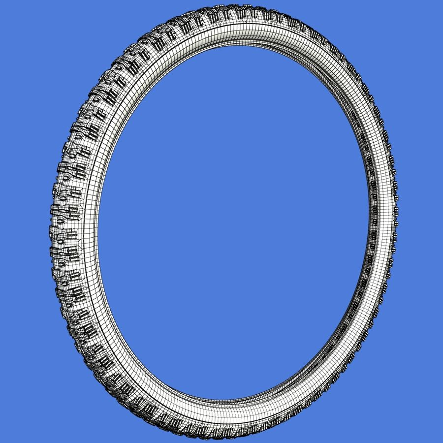 Mountain Bike Wheels with Tires royalty-free 3d model - Preview no. 21
