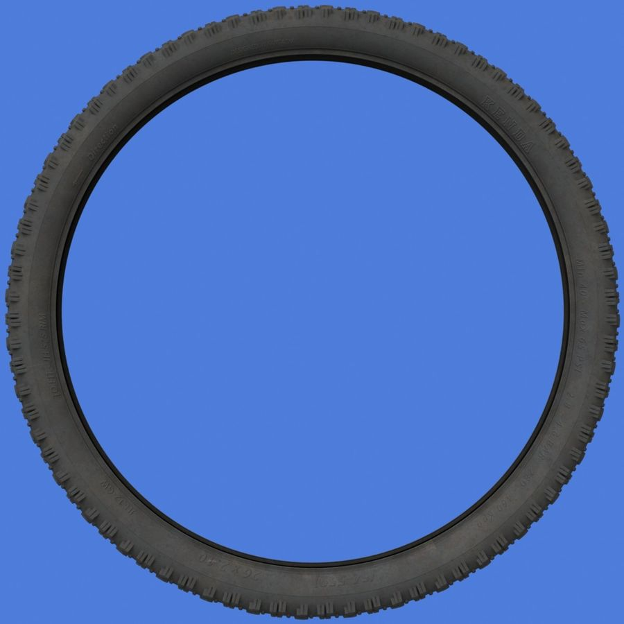 Mountain Bike Wheels + Tires royalty-free 3d model - Preview no. 9