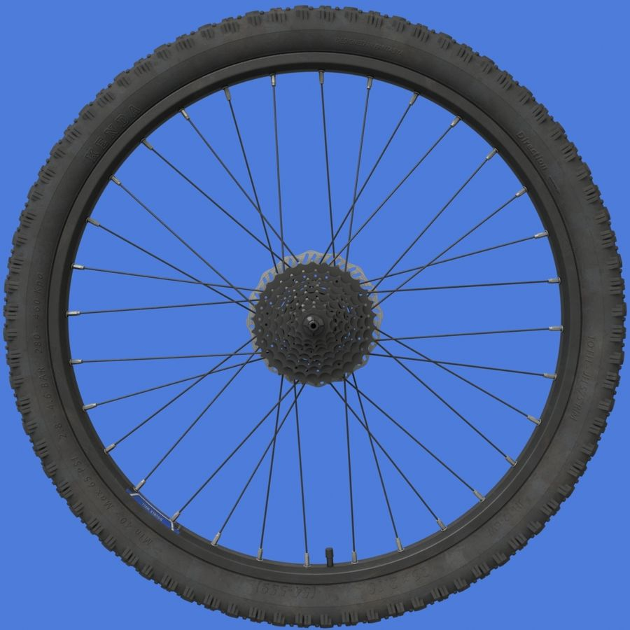 Mountain Bike Wheels with Tires royalty-free 3d model - Preview no. 5