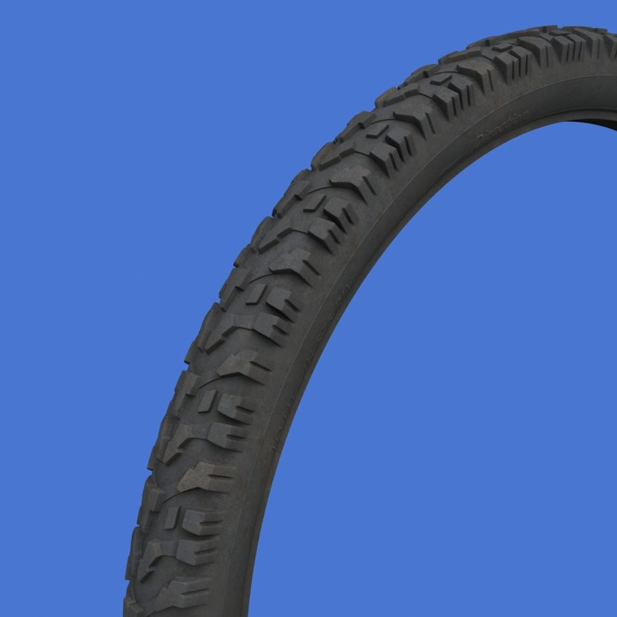 Mountain Bike Wheels with Tires royalty-free 3d model - Preview no. 13
