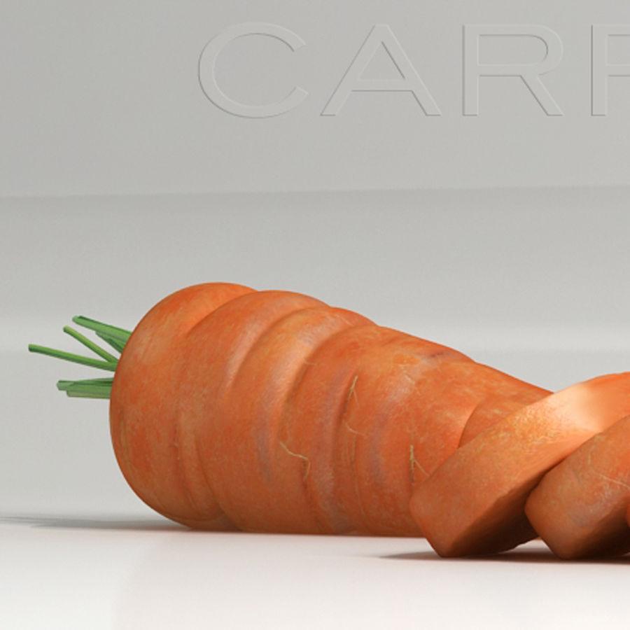 Segments carrot royalty-free 3d model - Preview no. 2