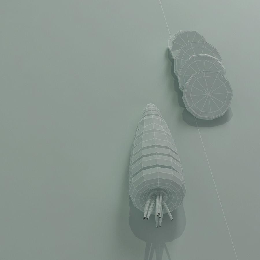 Segments carrot royalty-free 3d model - Preview no. 6