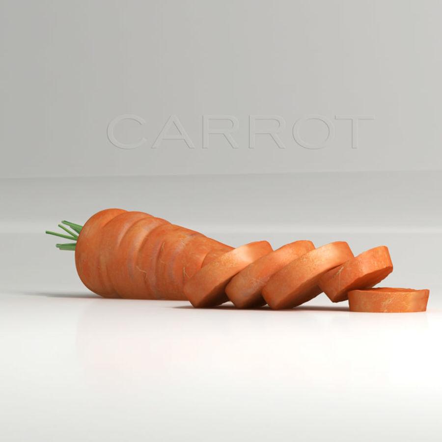 Segments carrot royalty-free 3d model - Preview no. 3