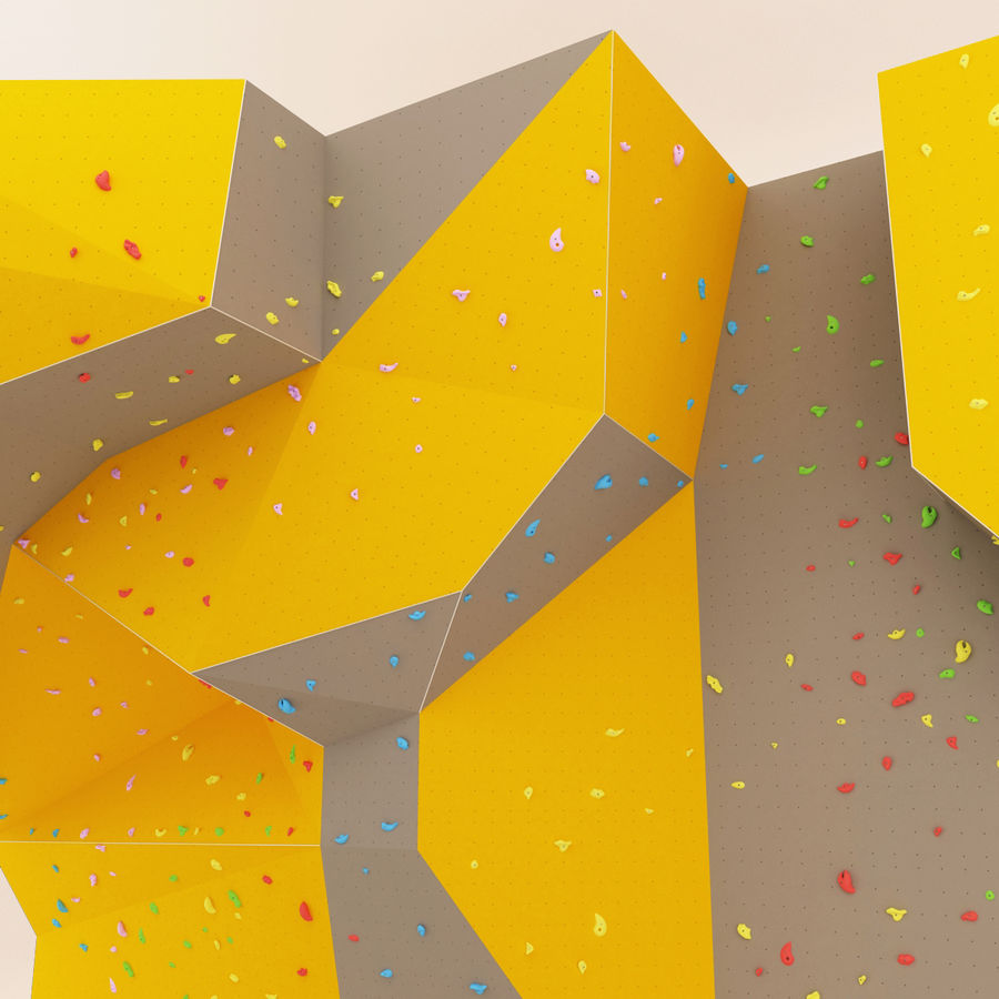 Climbing Wall royalty-free 3d model - Preview no. 4