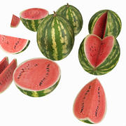 Melon Fruit Cutted Piece Table Kitchen Dinnig Room Detail Prop Dinner Watermelon 3d model