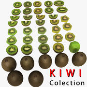 Kiwi Fruit Tranche de Morceau 3d model