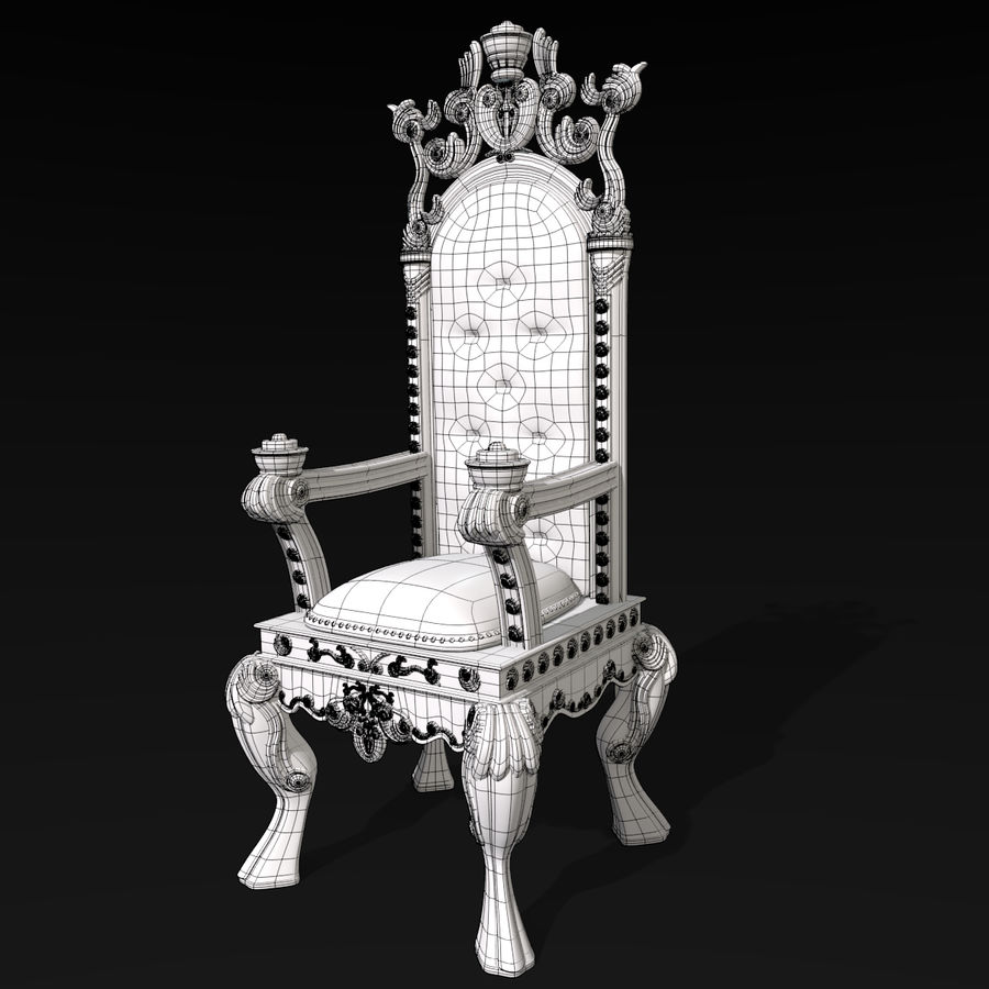 Kings Throne Chair royalty-free 3d model - Preview no. 7