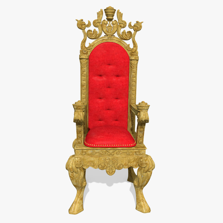 Kings Throne Chair royalty-free 3d model - Preview no. 2