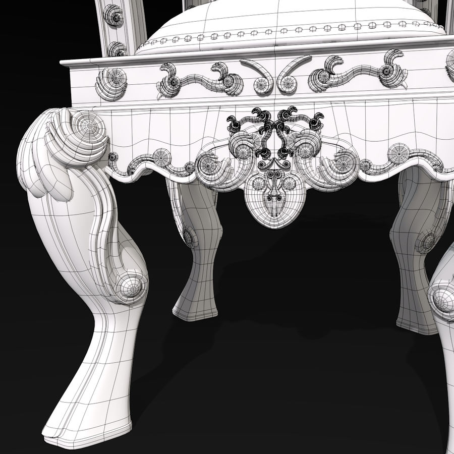 Kings Throne Chair royalty-free 3d model - Preview no. 10
