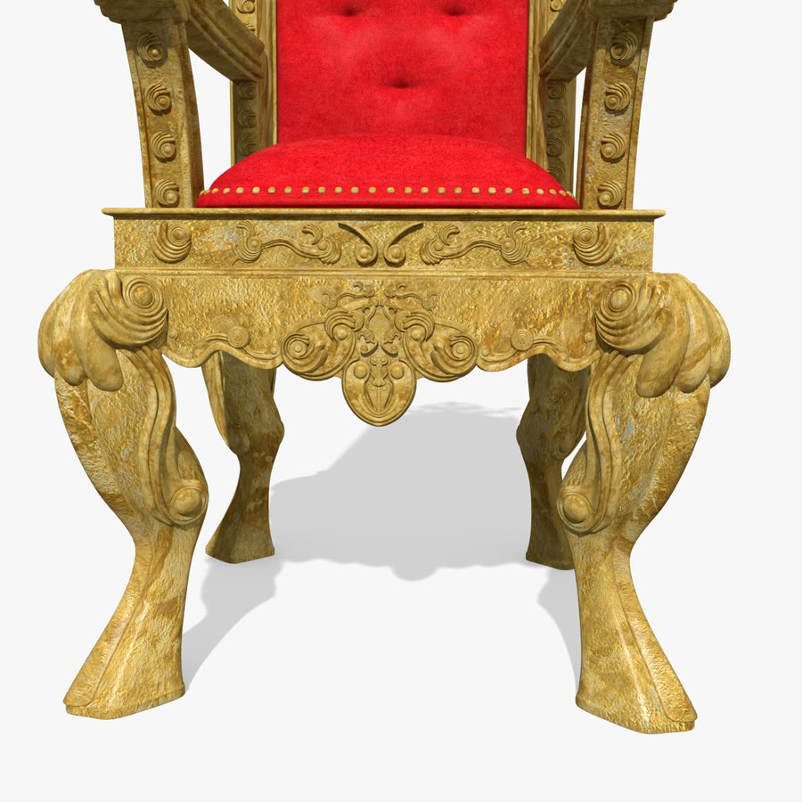 Kings Throne Chair royalty-free 3d model - Preview no. 6