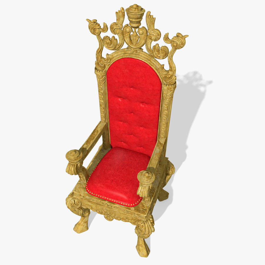 Kings Throne Chair royalty-free 3d model - Preview no. 1