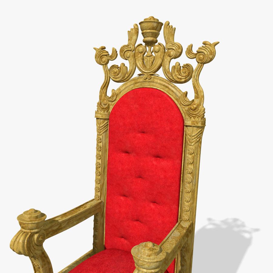 Kings Throne Chair royalty-free 3d model - Preview no. 5
