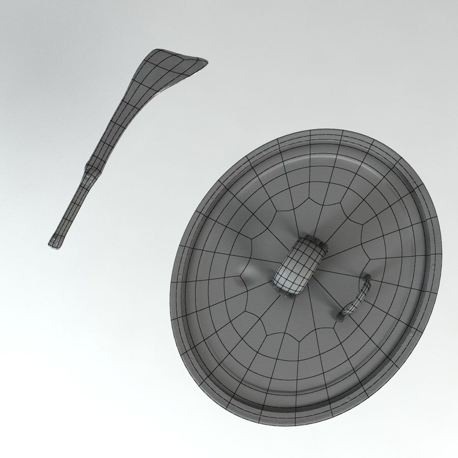 Warrior Shield and Weapon royalty-free 3d model - Preview no. 5