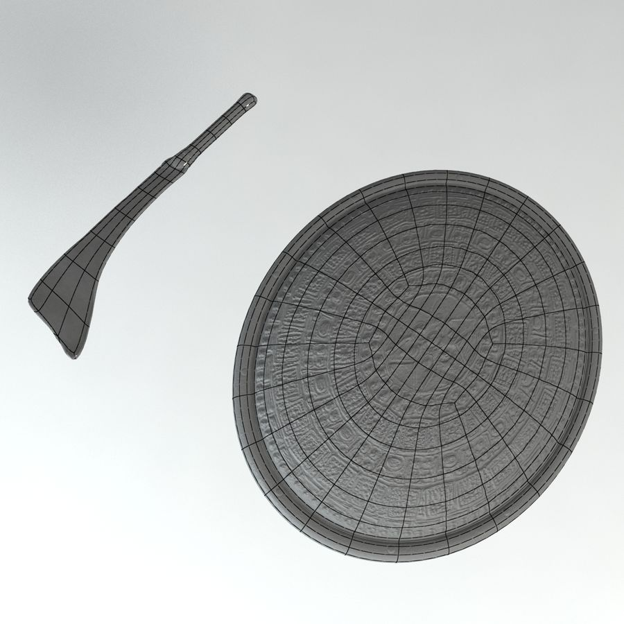 Warrior Shield and Weapon royalty-free 3d model - Preview no. 4