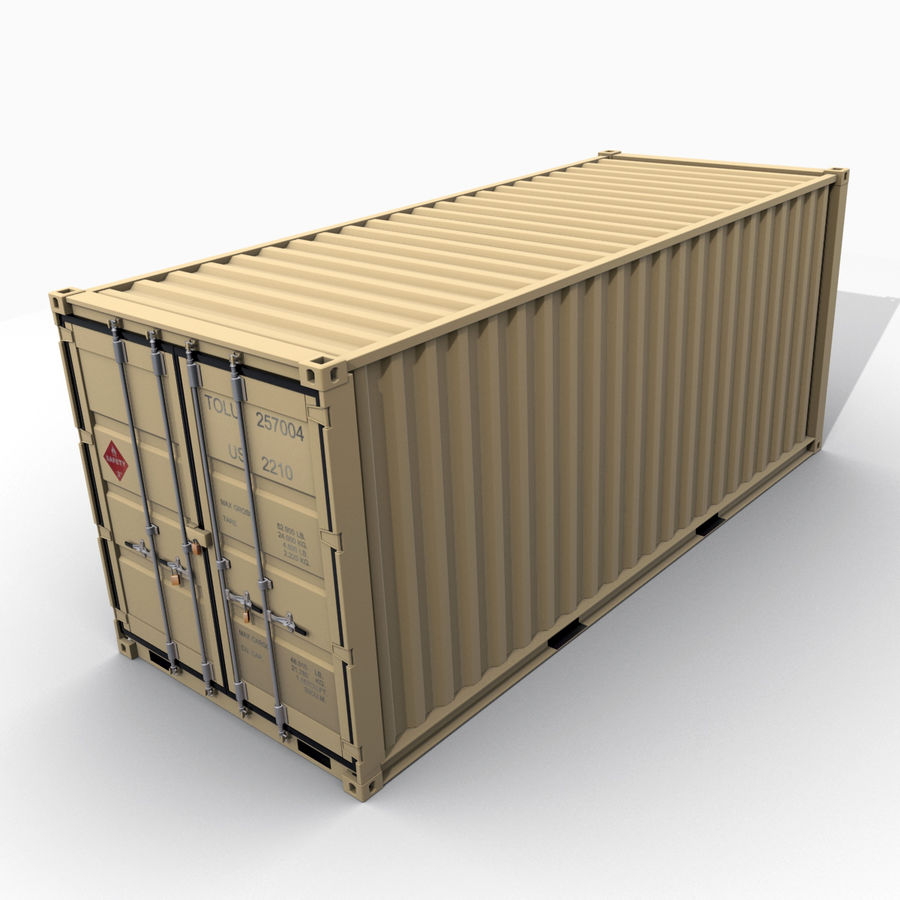 Container 20 feet royalty-free 3d model - Preview no. 7