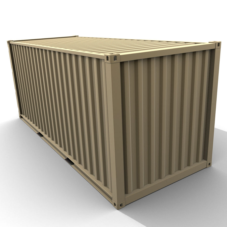 Container 20 feet royalty-free 3d model - Preview no. 8