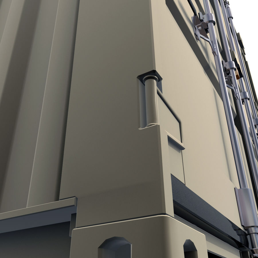 Container 20 feet royalty-free 3d model - Preview no. 10
