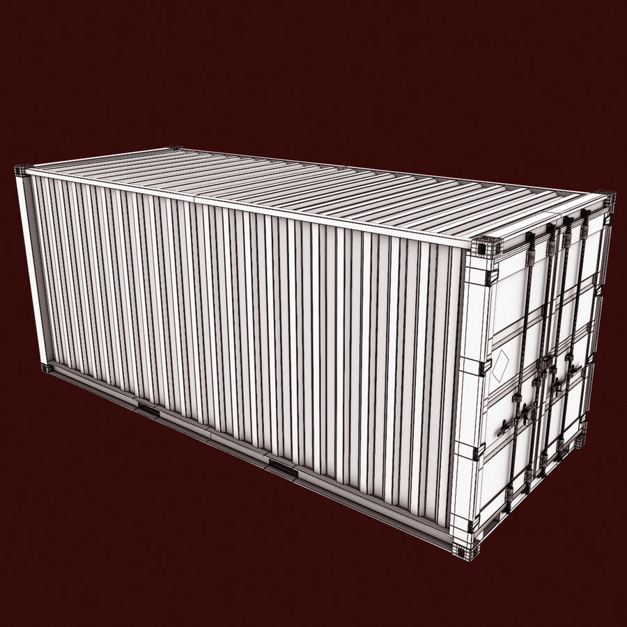 Container 20 feet royalty-free 3d model - Preview no. 13