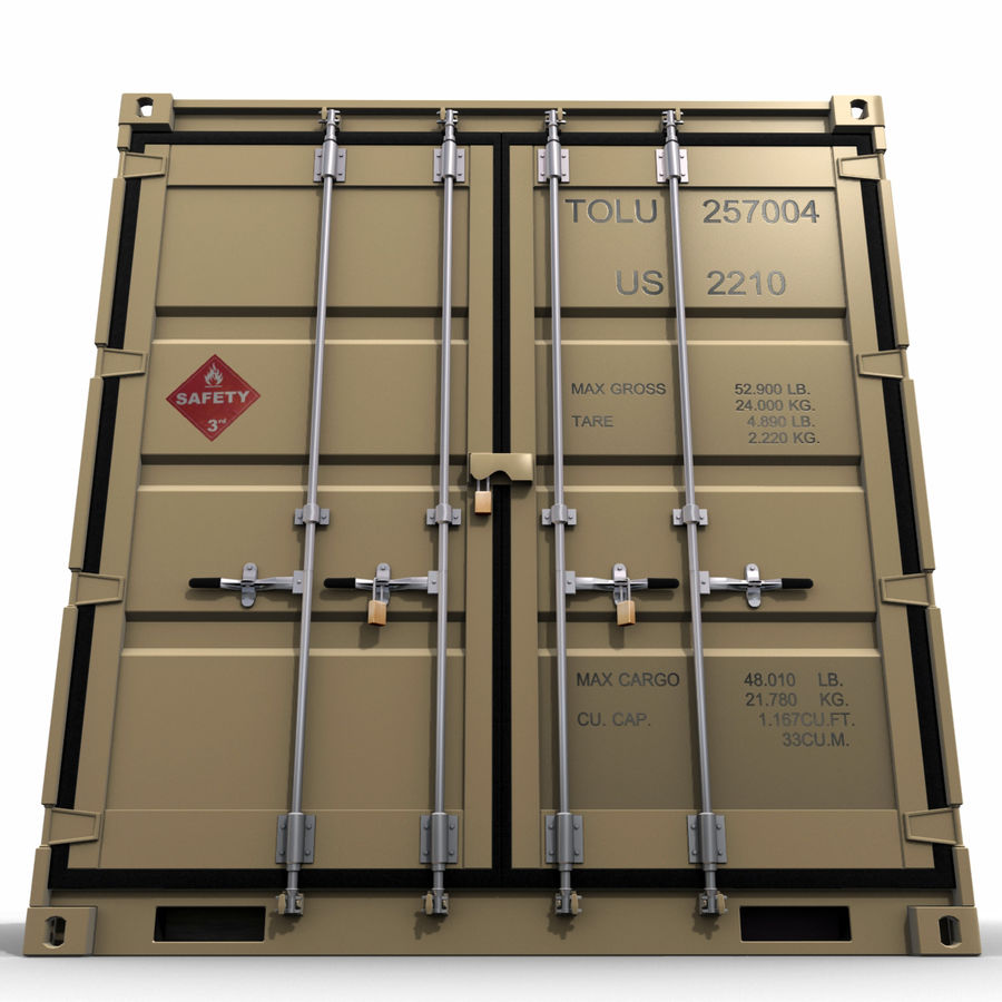 Container 20 feet royalty-free 3d model - Preview no. 6