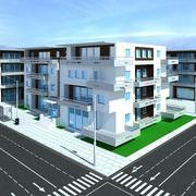 아파트 단지 3d model