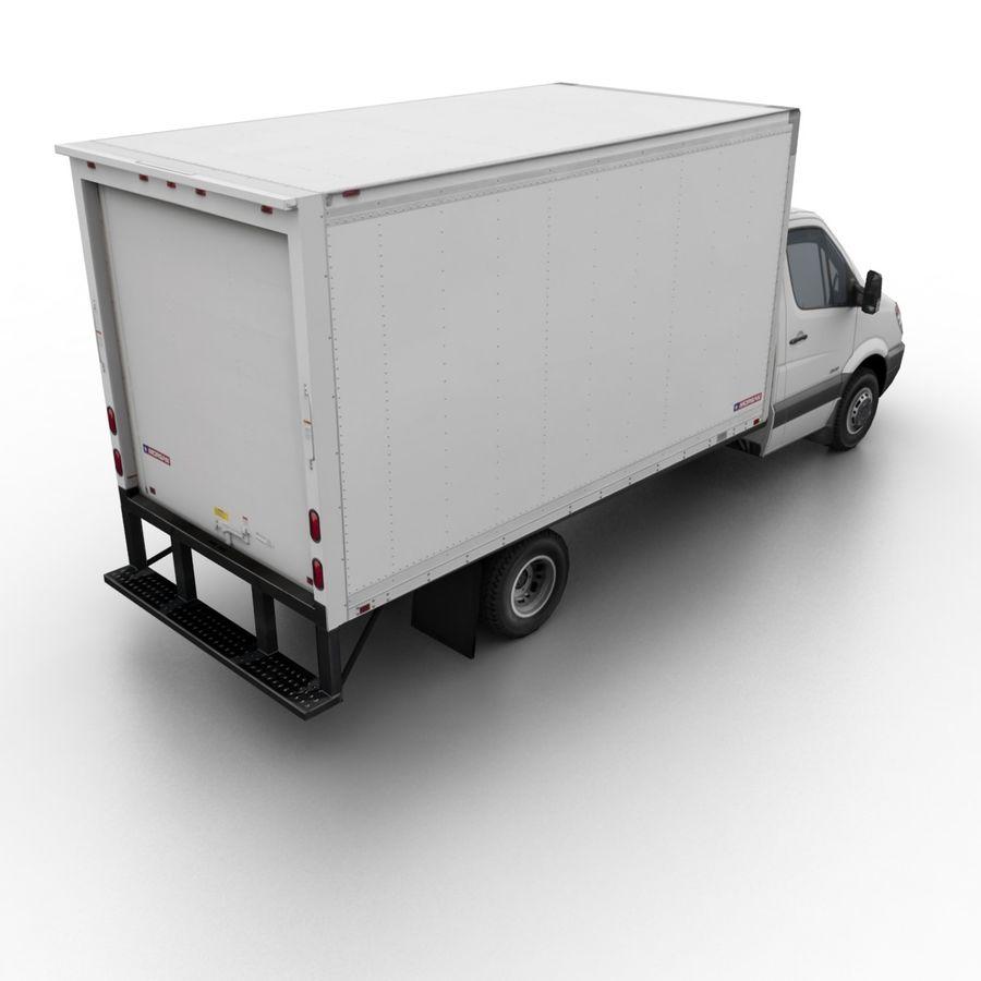 Freightliner Sprinter 3500 Box Van 2007 royalty-free 3d model - Preview no. 2