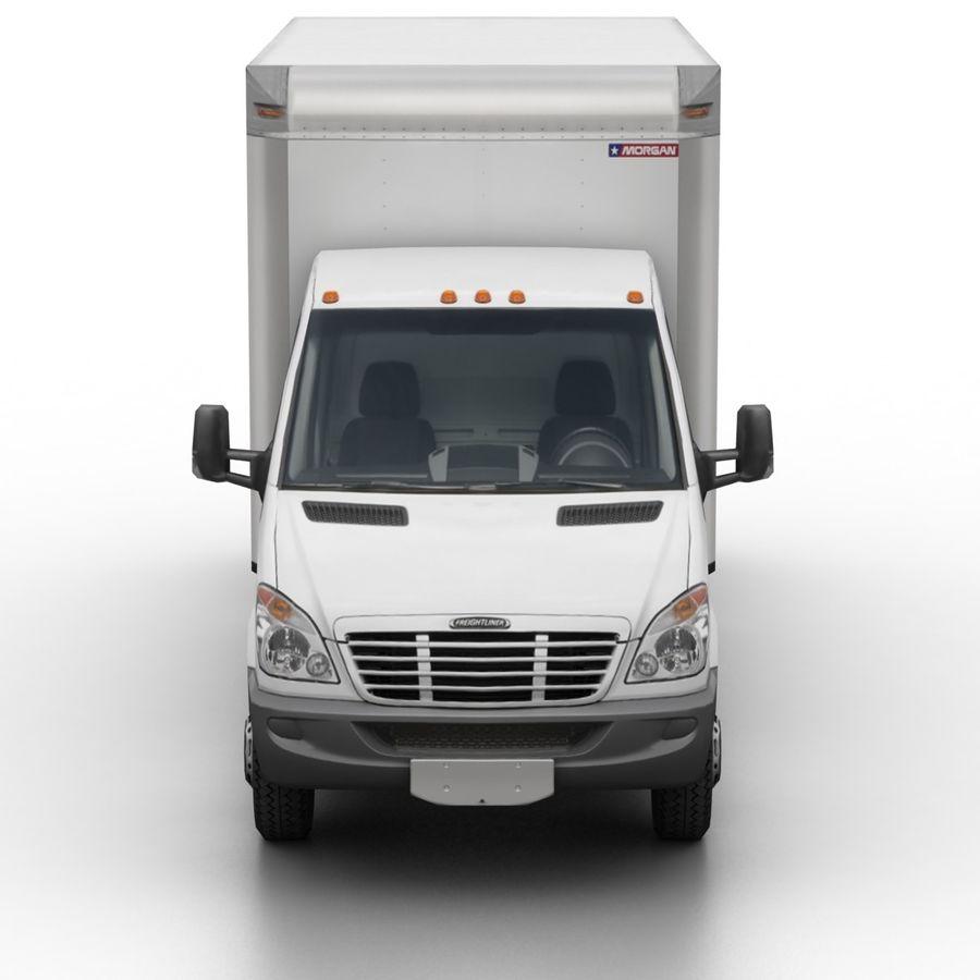 Freightliner Sprinter 3500 Box Van 2007 royalty-free 3d model - Preview no. 3