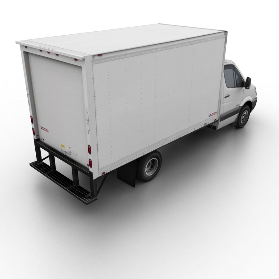 Freightliner Sprinter 3500 Box Van 2007 royalty-free 3d model - Preview no. 1