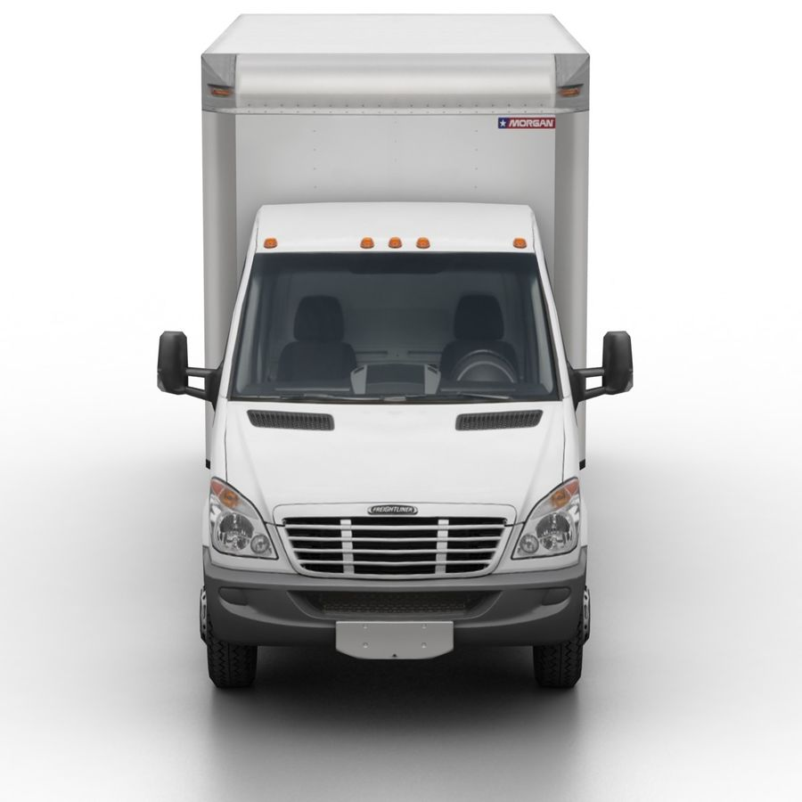 Freightliner Sprinter 3500 Box Van 2007 royalty-free 3d model - Preview no. 4