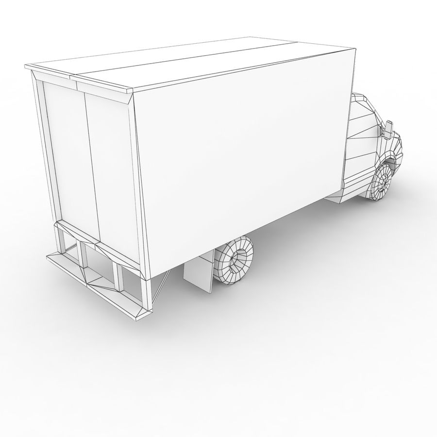 Freightliner Sprinter 3500 Box Van 2007 royalty-free 3d model - Preview no. 7