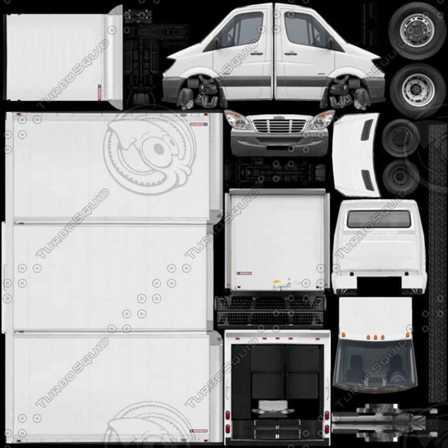 Freightliner Sprinter 3500 Box Van 2007 royalty-free 3d model - Preview no. 8