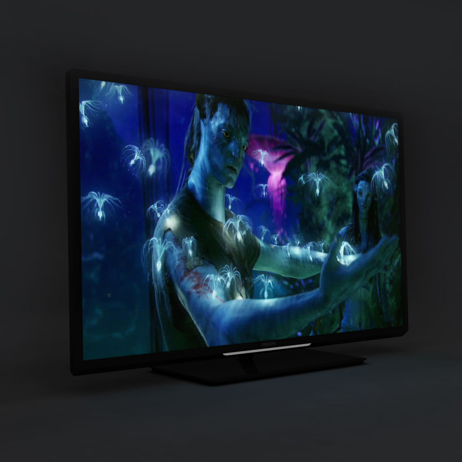 TV PHILIPS 3D LED royalty-free 3d model - Preview no. 4