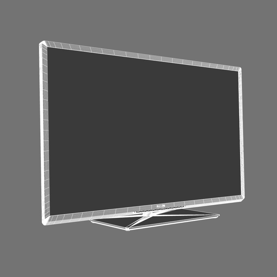 TV PHILIPS 3D LED royalty-free 3d model - Preview no. 10