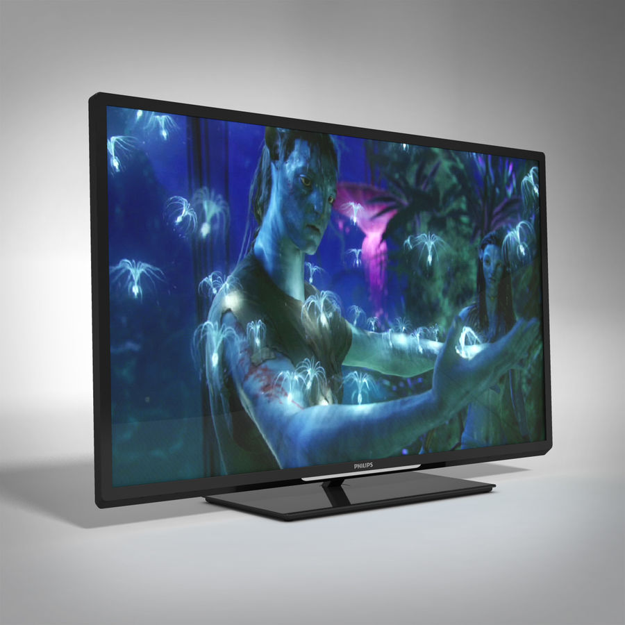 TV PHILIPS 3D LED royalty-free 3d model - Preview no. 5