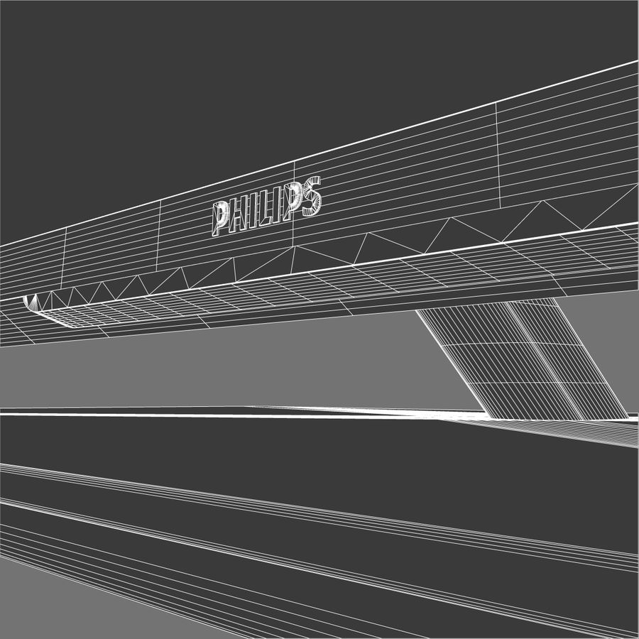 TV PHILIPS 3D LED royalty-free 3d model - Preview no. 12
