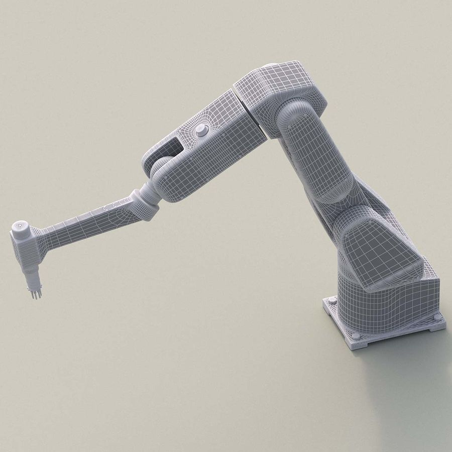 Robotic Arm royalty-free 3d model - Preview no. 13