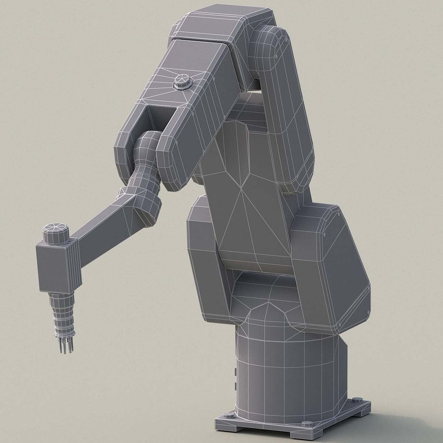 Robotic Arm royalty-free 3d model - Preview no. 14