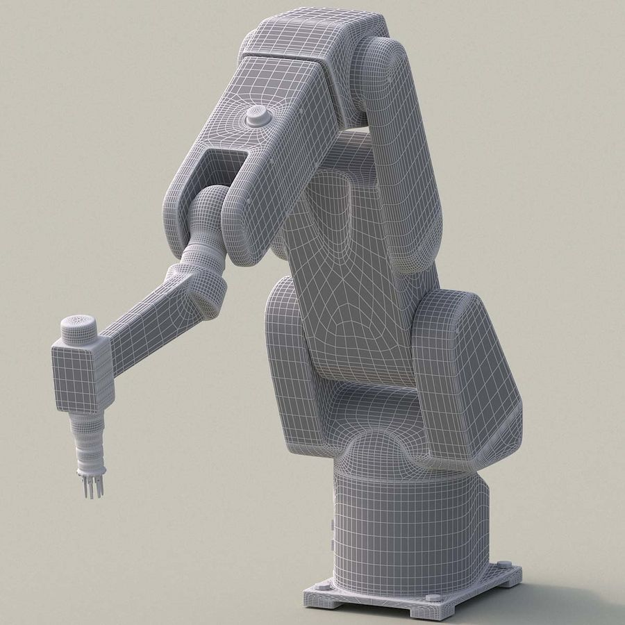Robotic Arm royalty-free 3d model - Preview no. 15