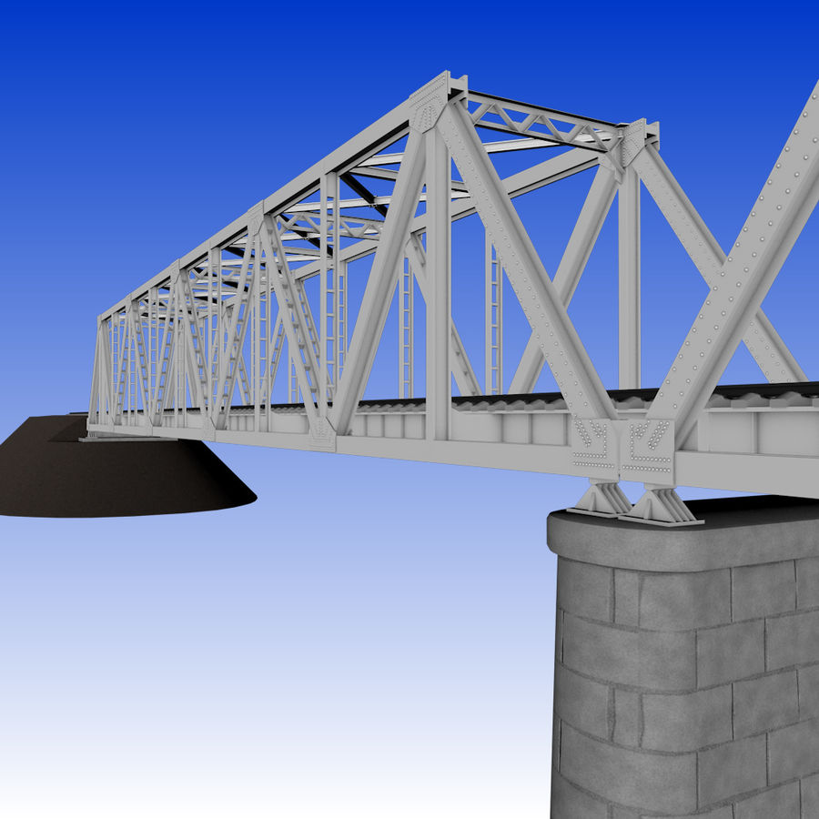 Frame Bridge royalty-free 3d model - Preview no. 4