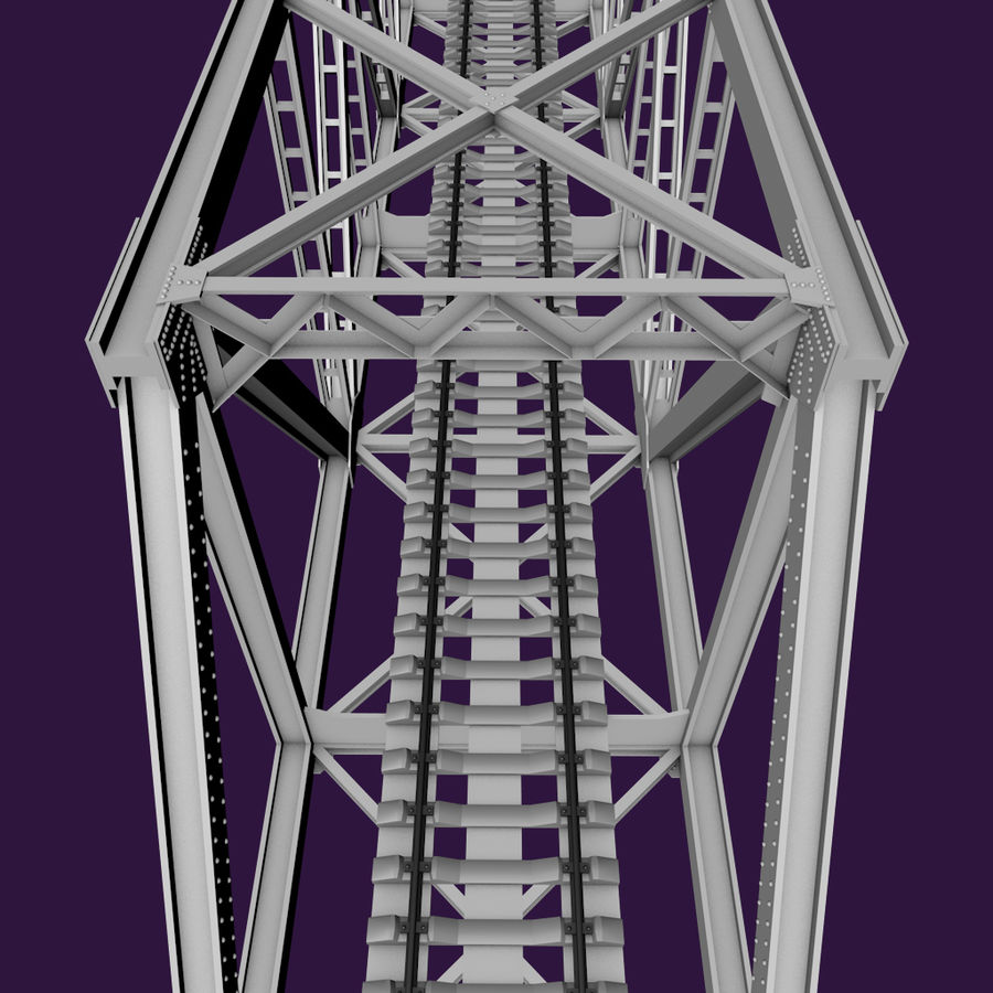 Frame Bridge royalty-free 3d model - Preview no. 3