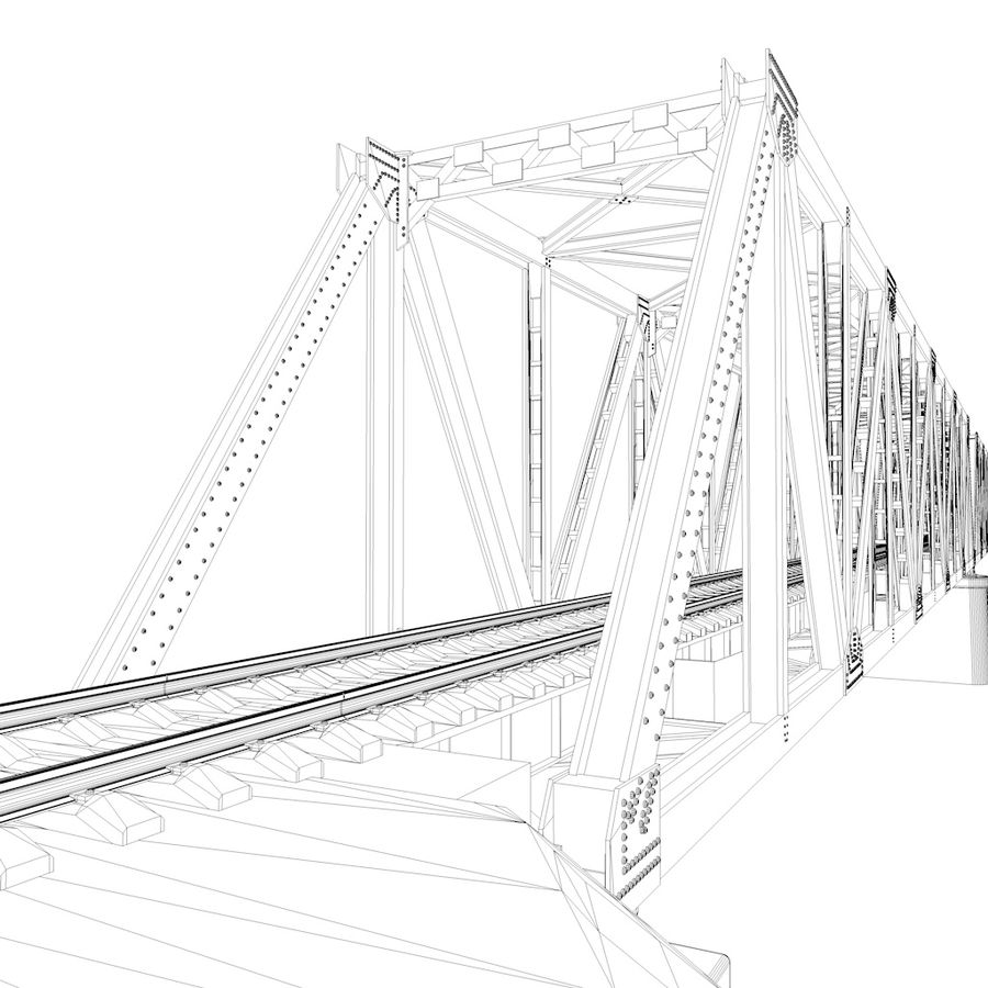 Frame Bridge royalty-free 3d model - Preview no. 8