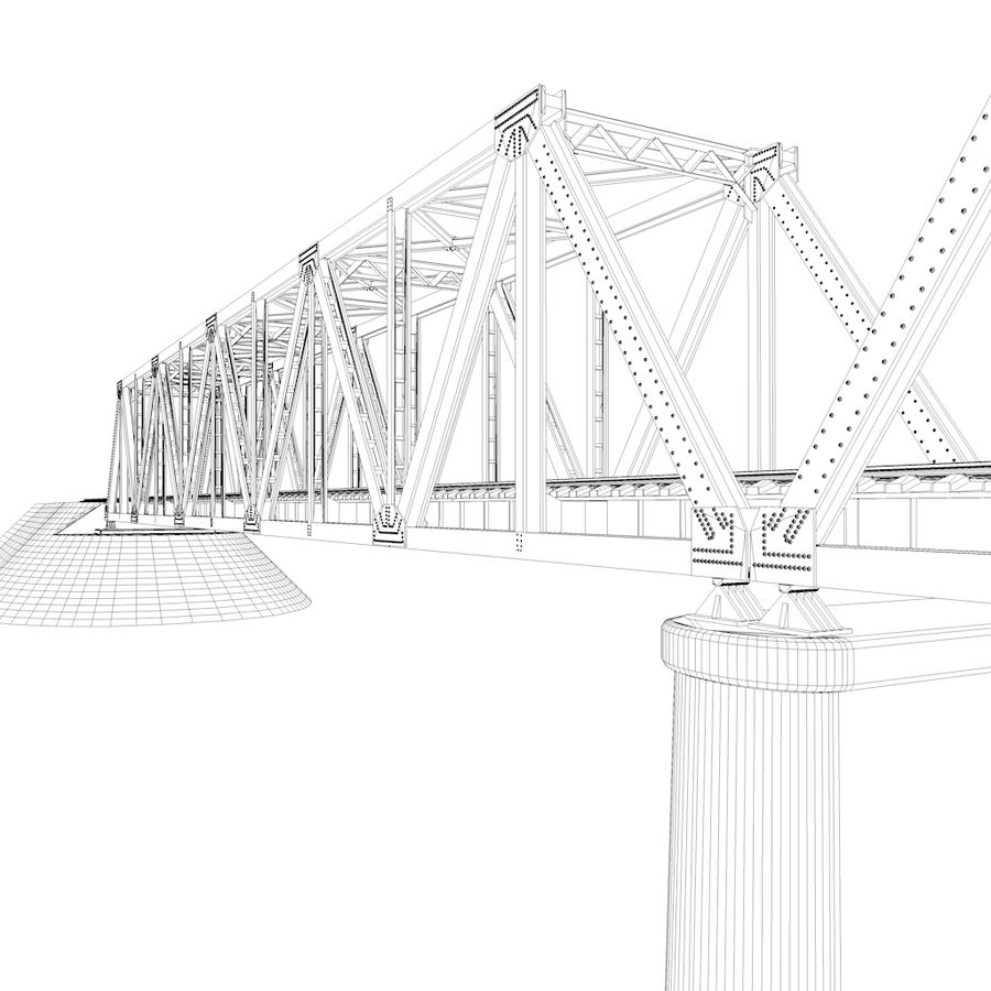 Frame Bridge royalty-free 3d model - Preview no. 5