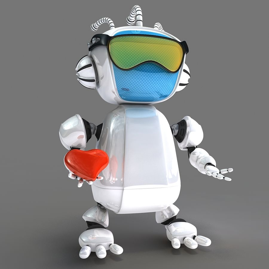 Robot Bot royalty-free 3d model - Preview no. 4