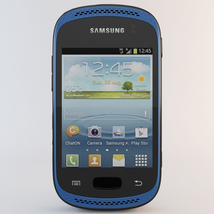 Samsung Galaxy Music Blue royalty-free 3d model - Preview no. 4