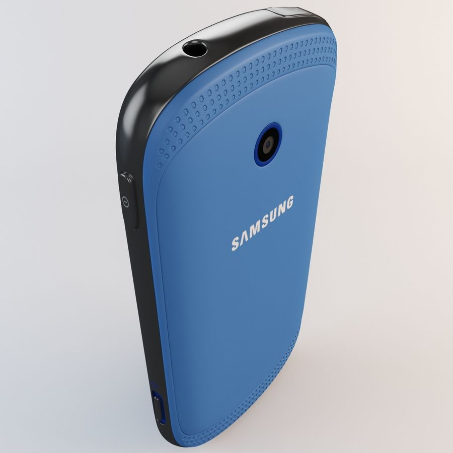 Samsung Galaxy Music Blue royalty-free 3d model - Preview no. 11