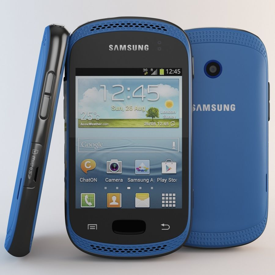 Samsung Galaxy Music Blue royalty-free 3d model - Preview no. 2