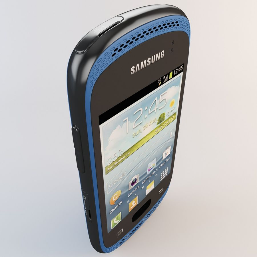 Samsung Galaxy Music Blue royalty-free 3d model - Preview no. 10