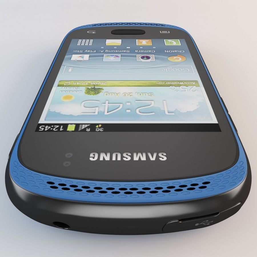 Samsung Galaxy Music Blue royalty-free 3d model - Preview no. 13